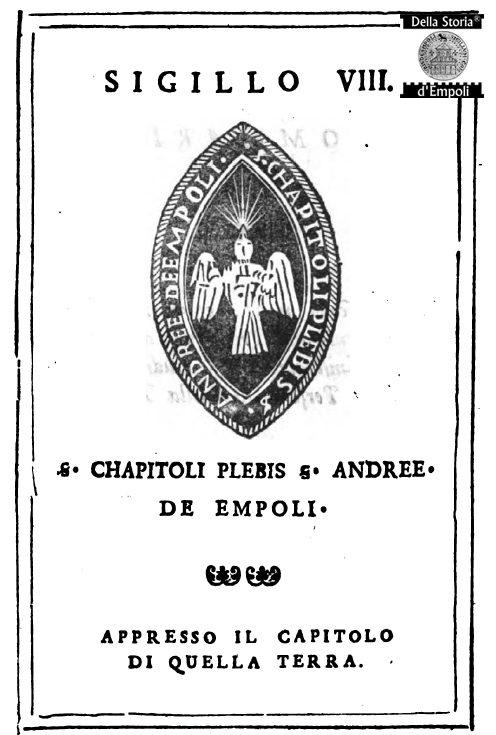 [Doc. Originale]: Sigillo Del Capitolo Della Pieve S. Andrea Di Empoli