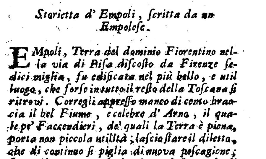 Storietta D'Empoli Dell'Anonimo Empolese, Pubblicata Da G. Lami Nel 1741: Versione Trascritta