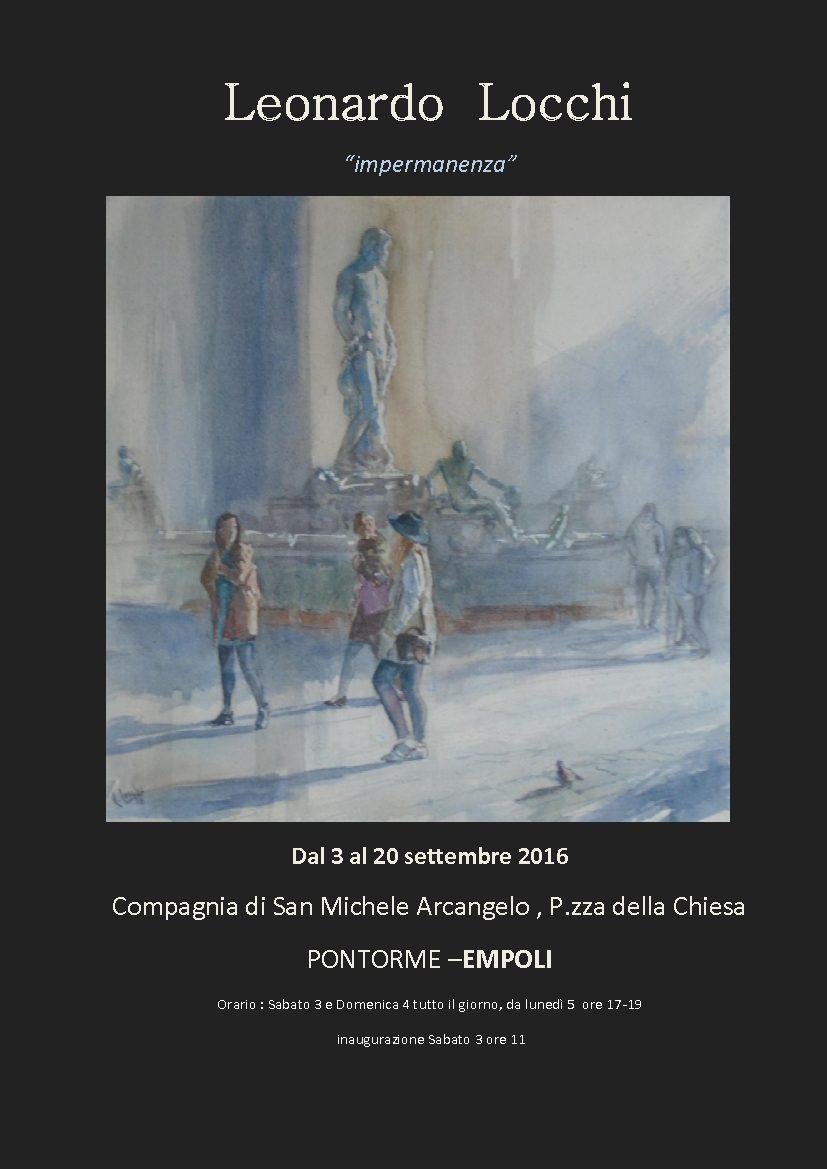 Pontorme, Mostra Pittorica Di Leonardo Locchi, 3-20 Settembre 2016