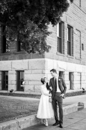 classic portrait courthouse wedding