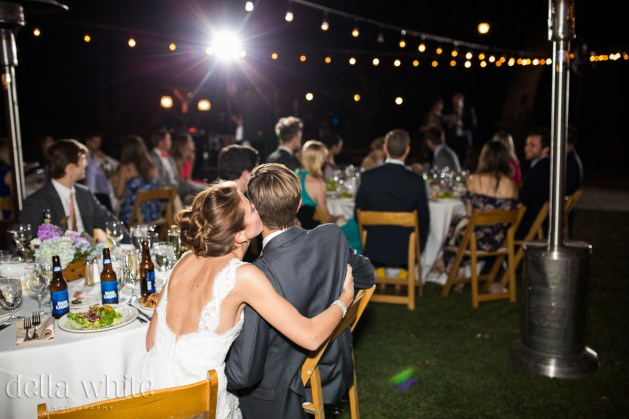 outdoor reception at night