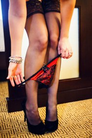 taking off her panties
