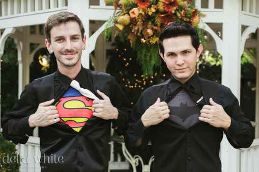 groom and best mad batman and superman