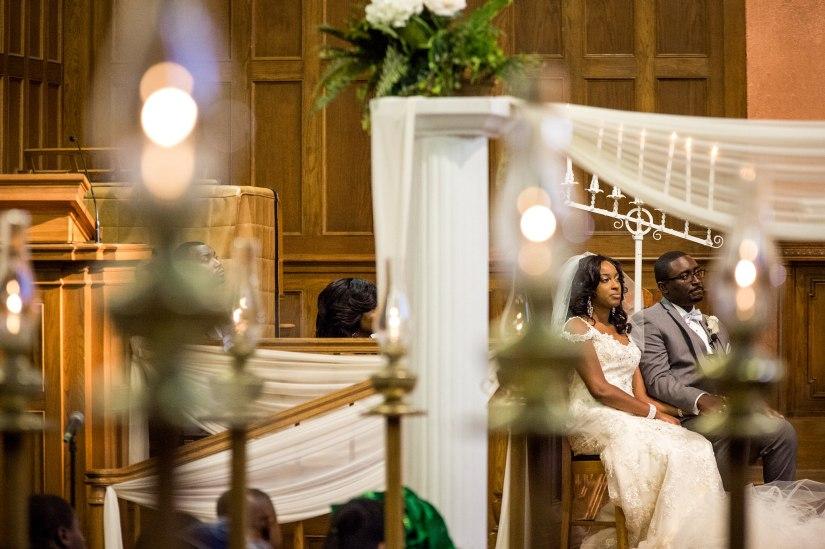 artistic photo through church candles