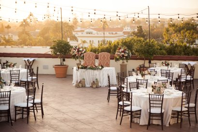 gorgeous reception on rooftop of canary hotel santa barbara