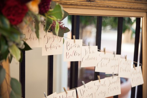 seating cards for wedding reception