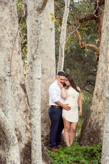 engagement session in orange county santiago oaks
