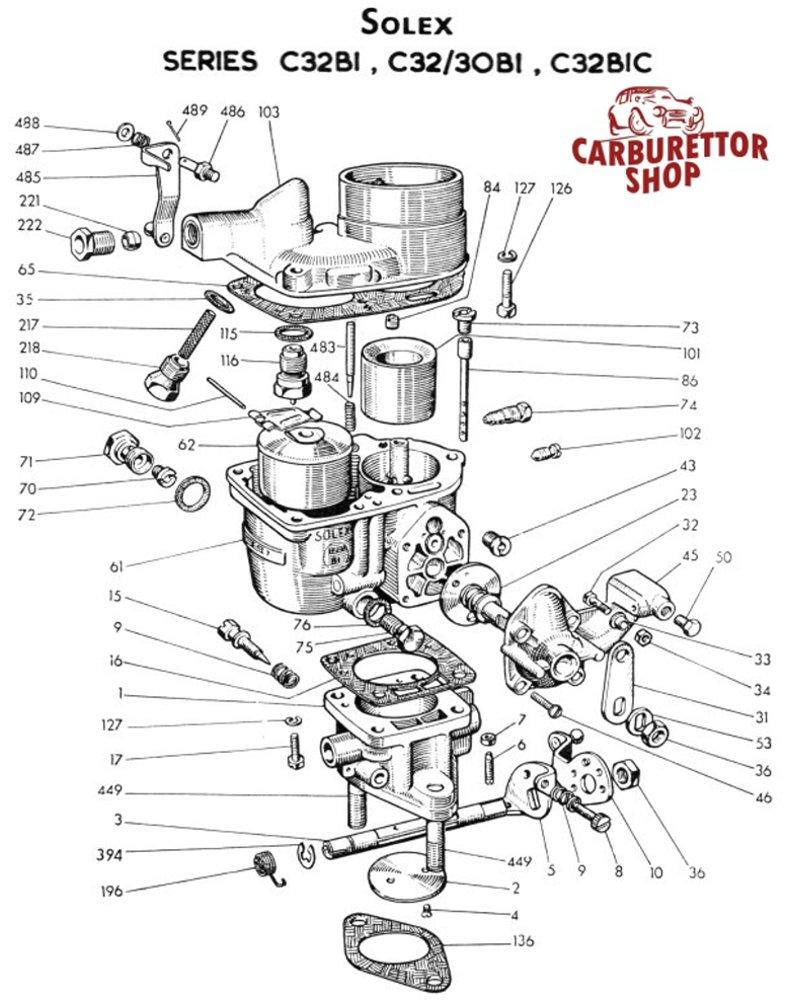 D430 solex c32 bic carburetor parts on solex carburetor parts diagram