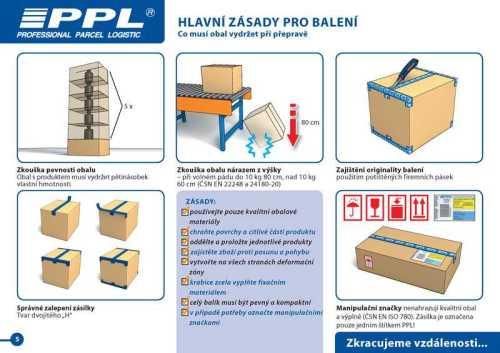 PPL zabalení zásilky - Hlavní zásady při balení