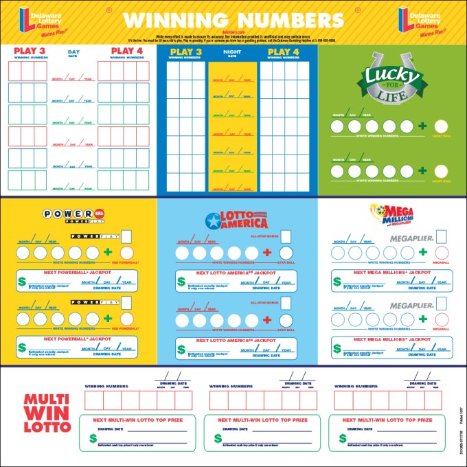delaware lottery results winning numbers
