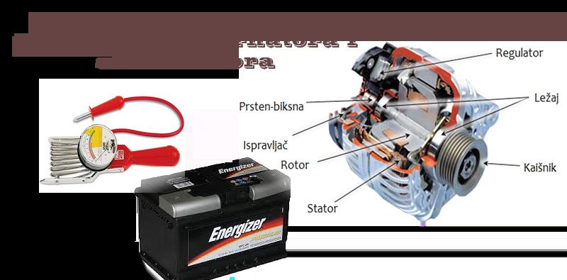 Provera ispravnosti alternatora i akumulatora