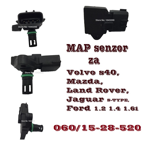 MAP Za Volvo s40 Mazda Land Rover Jaguar S-TYPE za Ford 1.2 1.4 1.6i