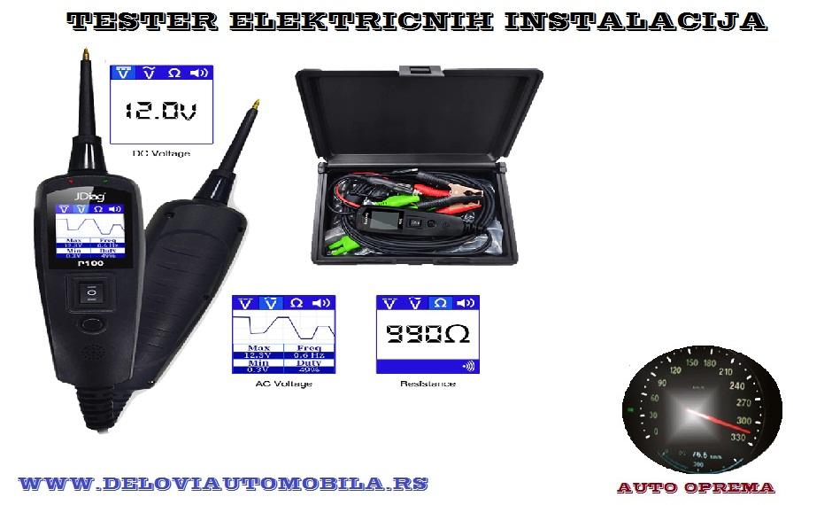 Tester elektricnih instalacija na vozilu