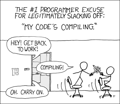 "XKCD's ""Compiling"" comic"