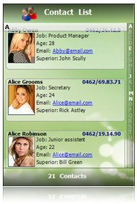 The TMS AdvSmoothListBox - Nice twitter UI don't you think?