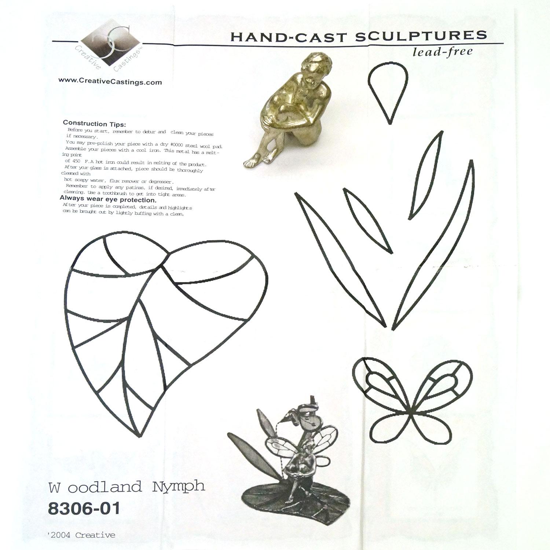 Nymph On Leaf Lead Free Figurine
