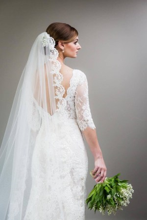 Cahthedral Length beaded veil