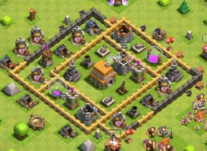 My Clash of Clans village at TH6