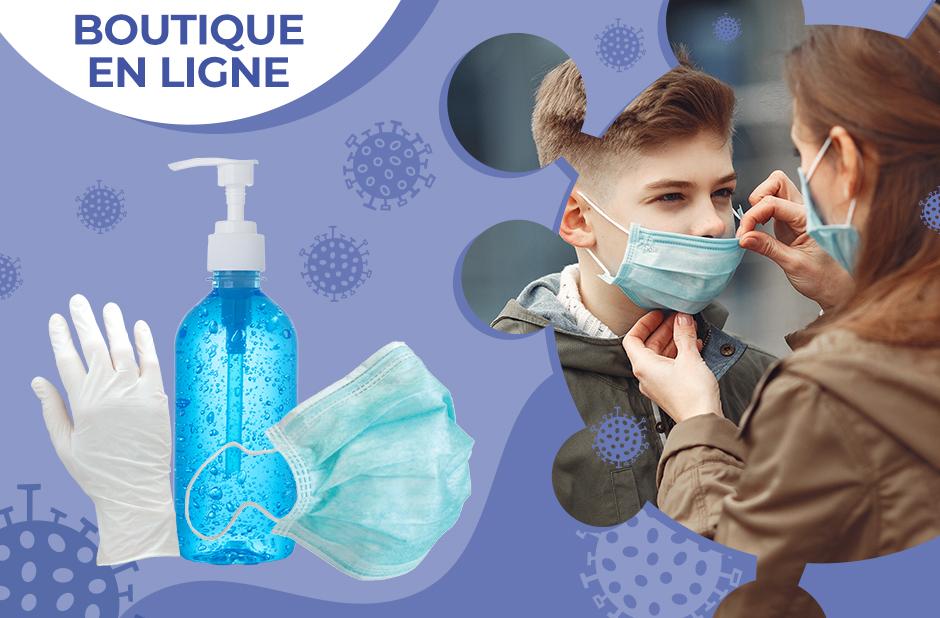 masques et gel hydroalcoolique