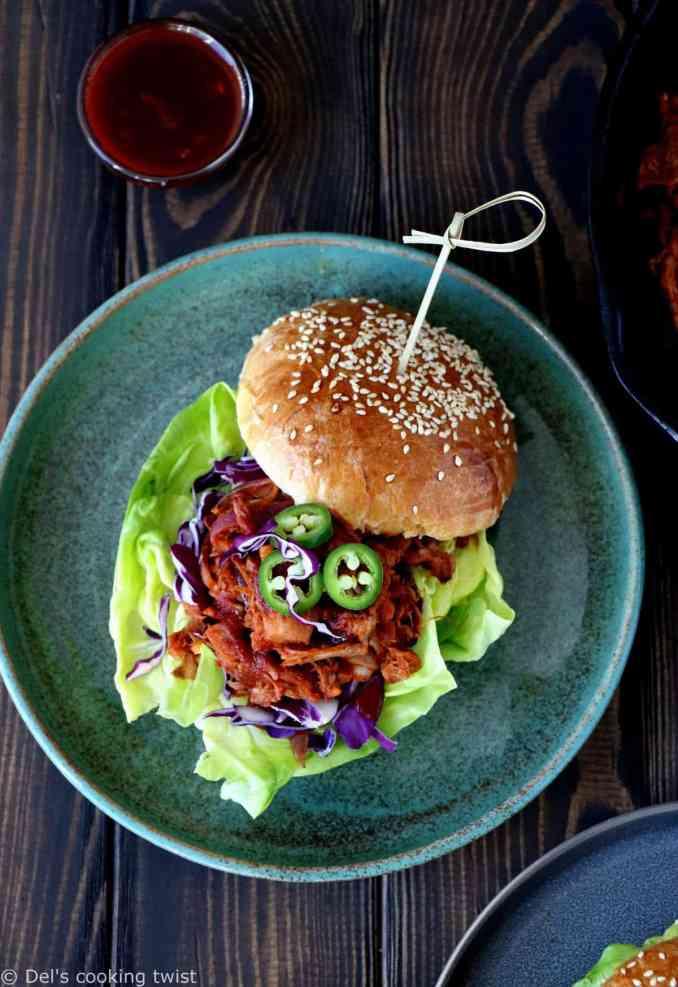 Vegetarian Jackfruit Pulled Pork Burger — Del's cooking twist