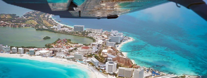 Cancun Hotel Zone Aerial Photo travel by del Sol Travels photo del sol photography