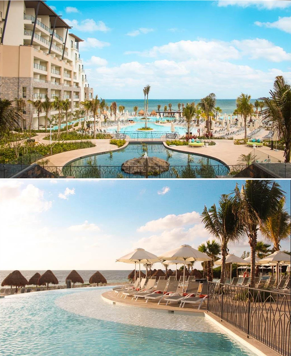 Now Natura Riviera Cancun Mexico Beach and infinity pools