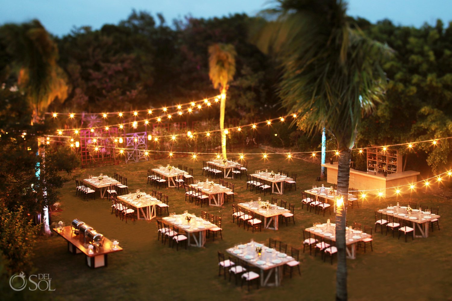 Dreams Tulum Secret Garden Wedding Reception Venue