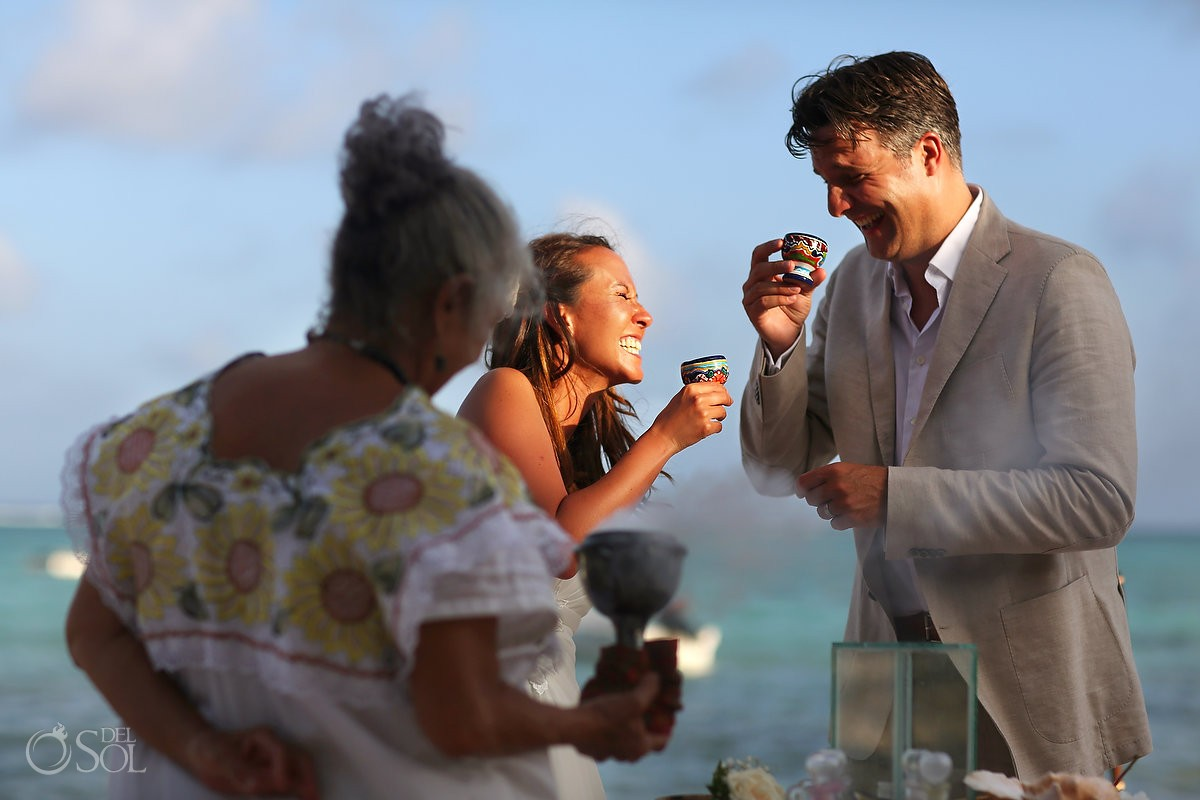 Mexico elopement ideas maya ceremony at Jashita boutique hotel Tulum Mexico