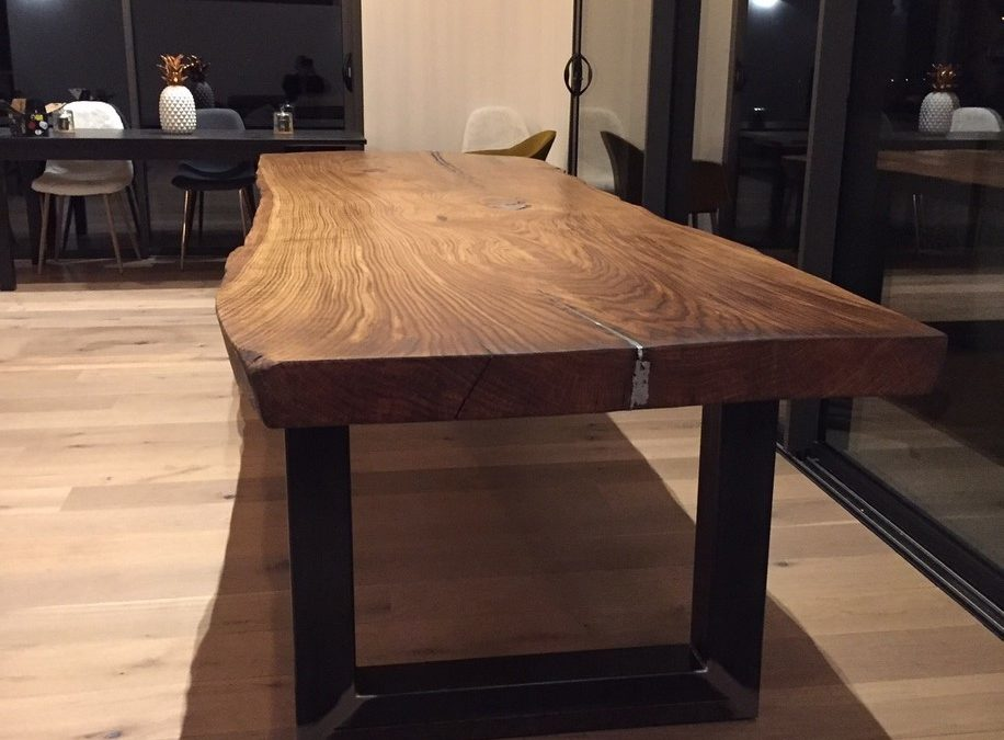plateau de table en bois massif grande