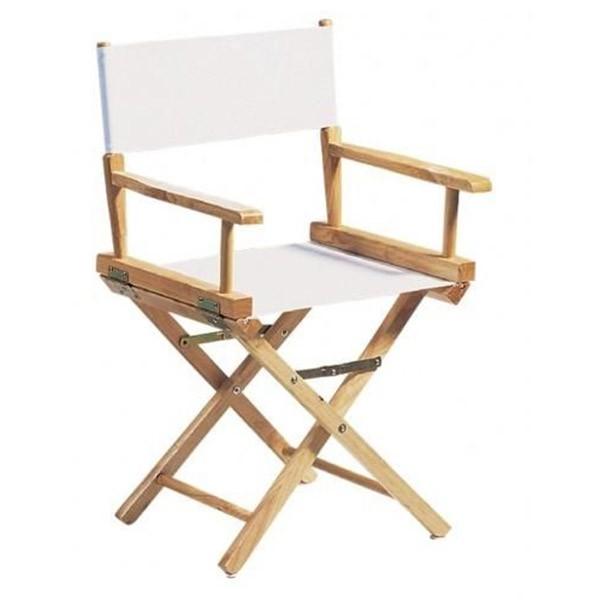 fauteuil metteur en scene adulte bois naturel brode