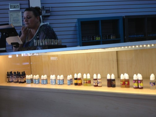 FLAVORTOWN: An assorted selection of vapors juices at Just the Tip Vapors in Stockton.