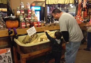 TREATS AWAIT: A father and son pick out candy in the country store. PHOTO BY VALERIE SMITH