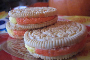 SWEET TREATS: Candy corn Oreos are among the novelty items available this holiday season. PHOTO BY CHRISTINA CORNEJO