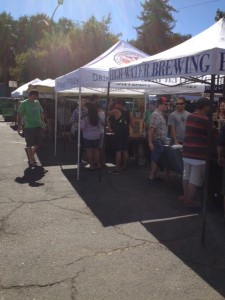 Beer enthusiasts sample local breweries at the Abbery during Beer Week.