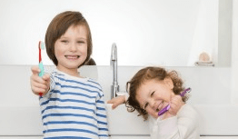 Flossing doesn't have to be boring. Show your kids that flossing is fun!