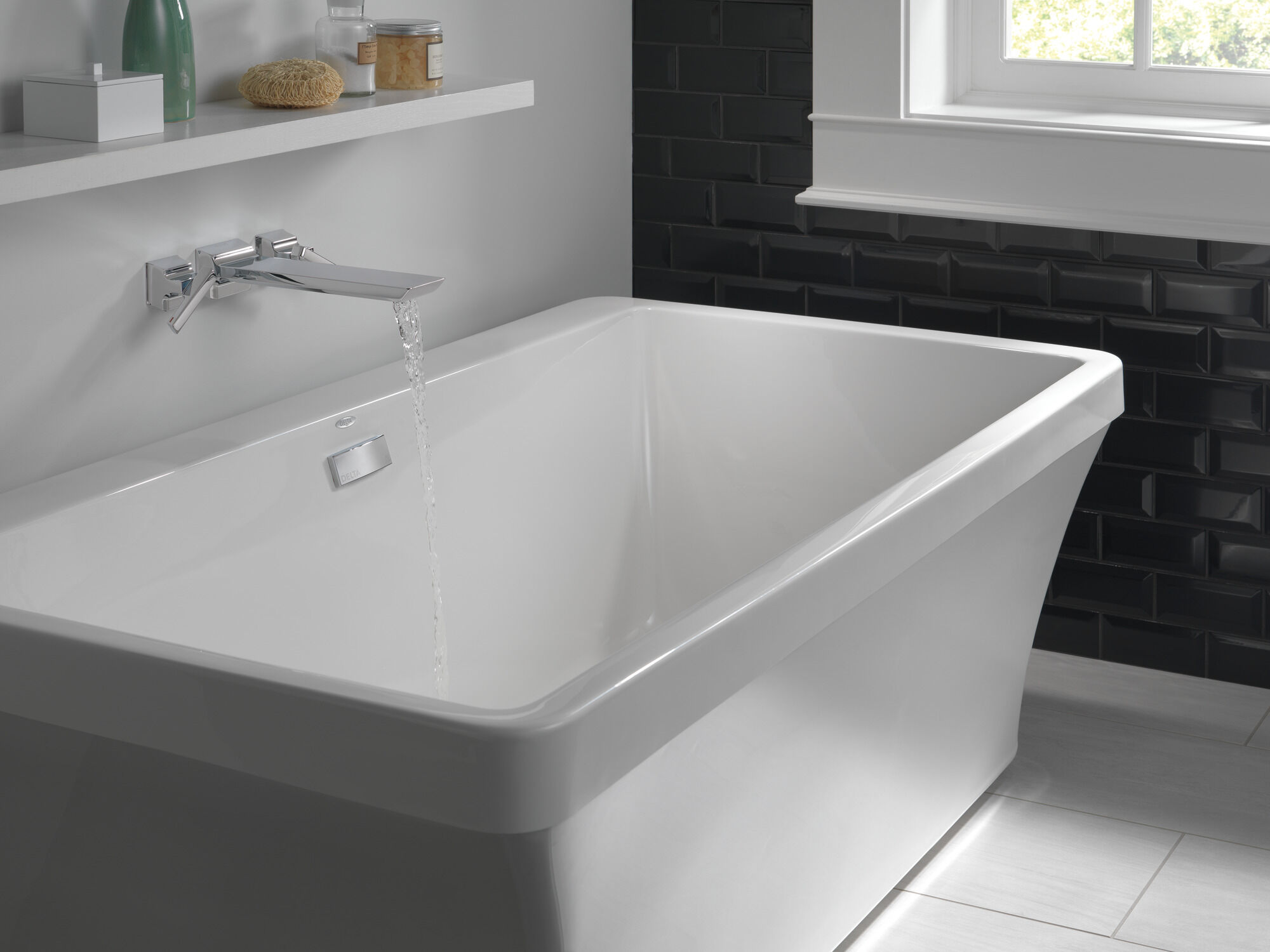 two handle wall mounted tub filler