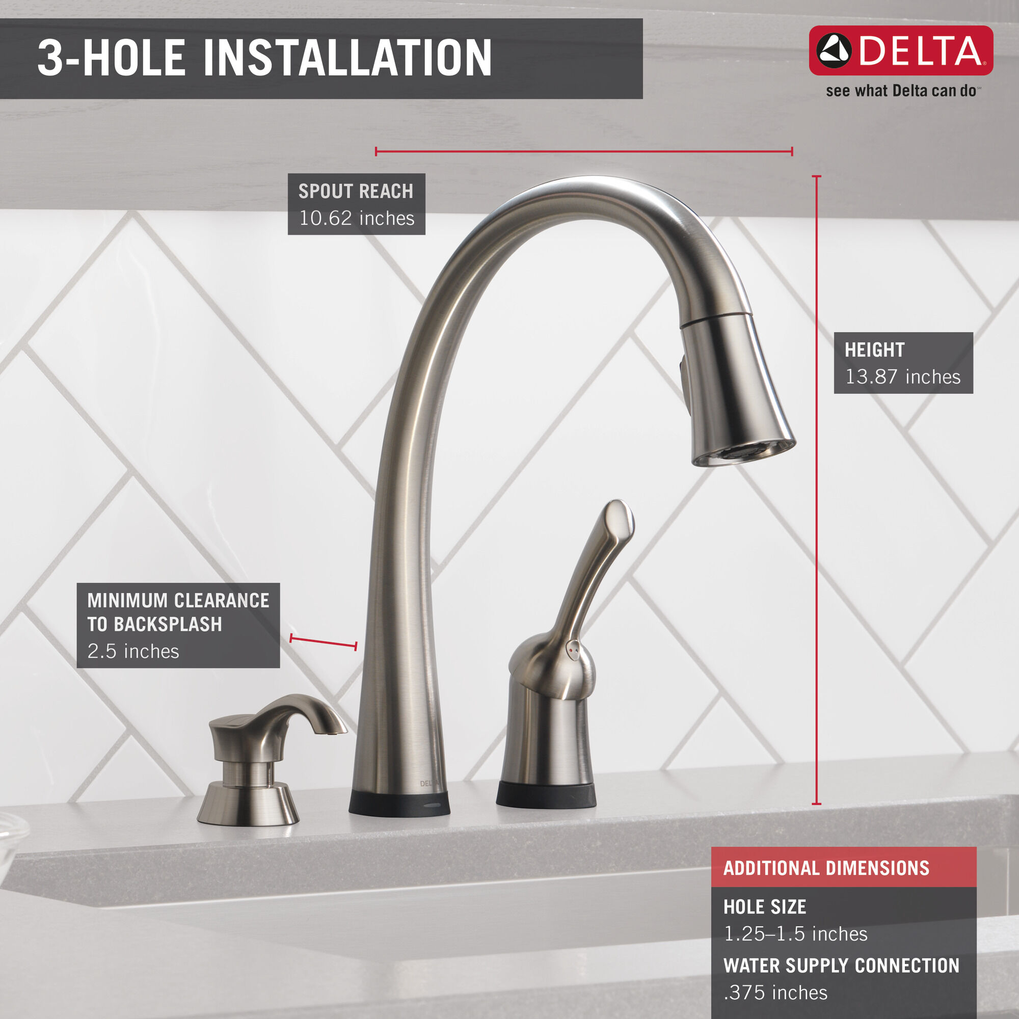single handle pull down kitchen faucet with touch2o technology and soap dispenser