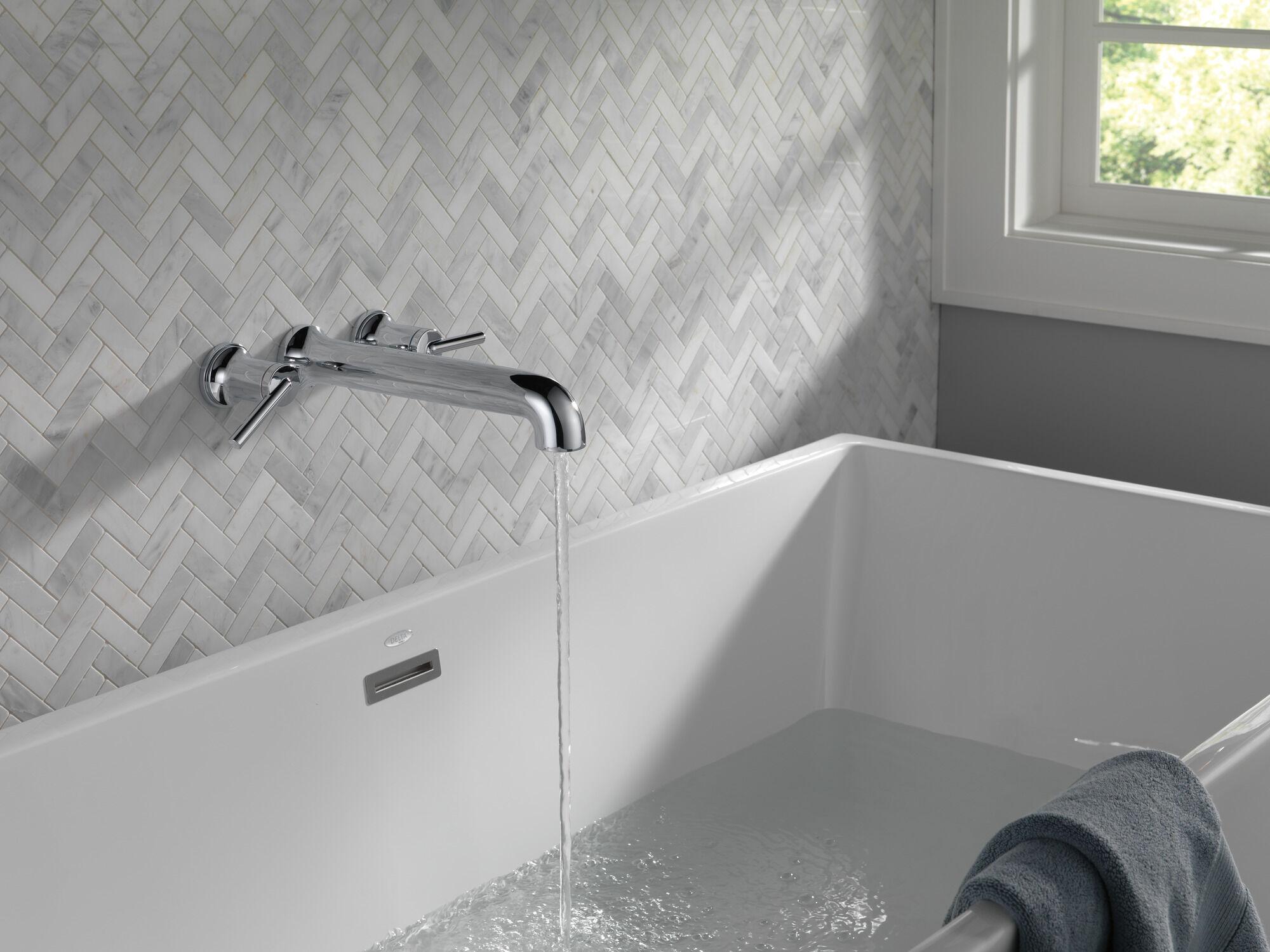 wall mounted tub filler