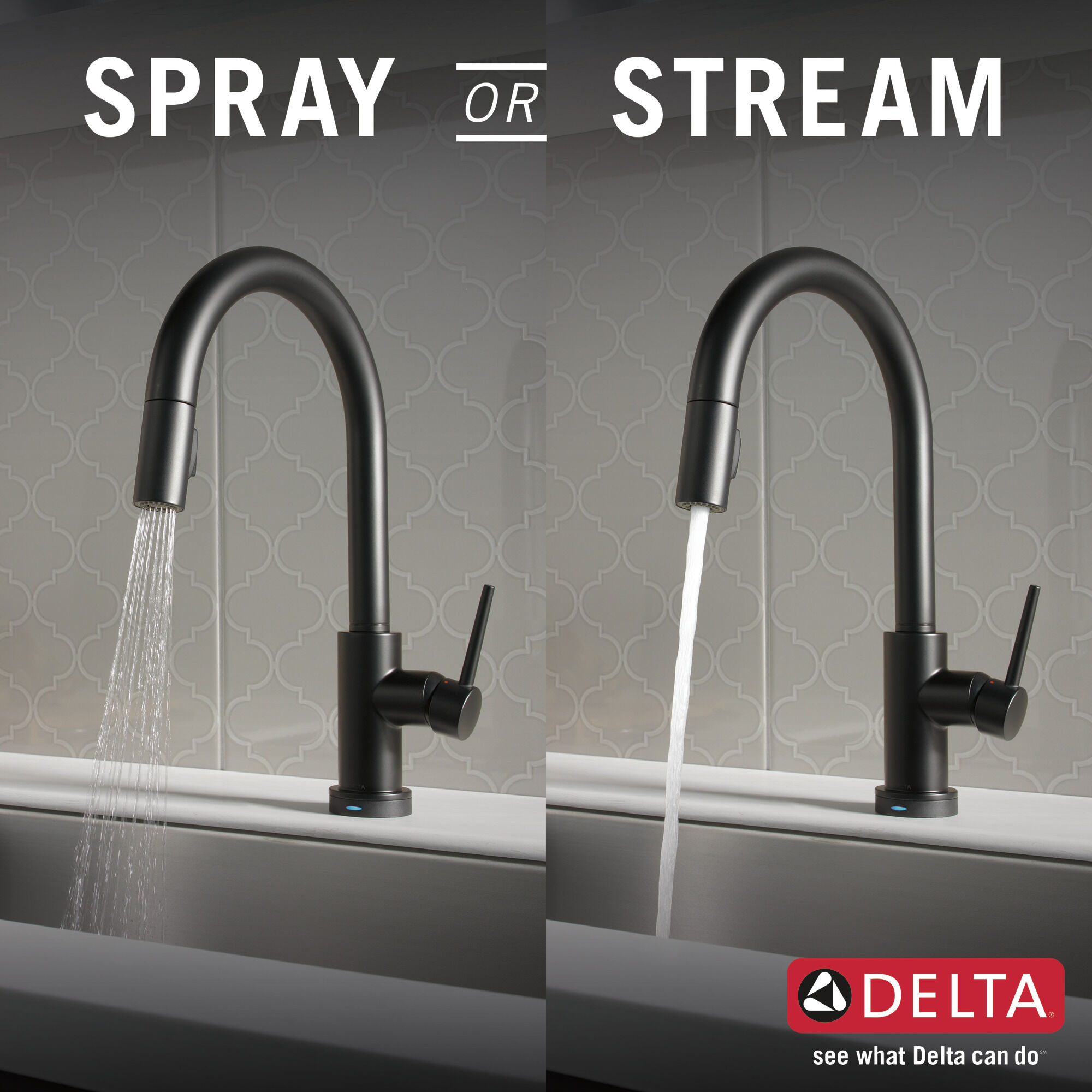single handle pull down kitchen faucet with touch2o technology