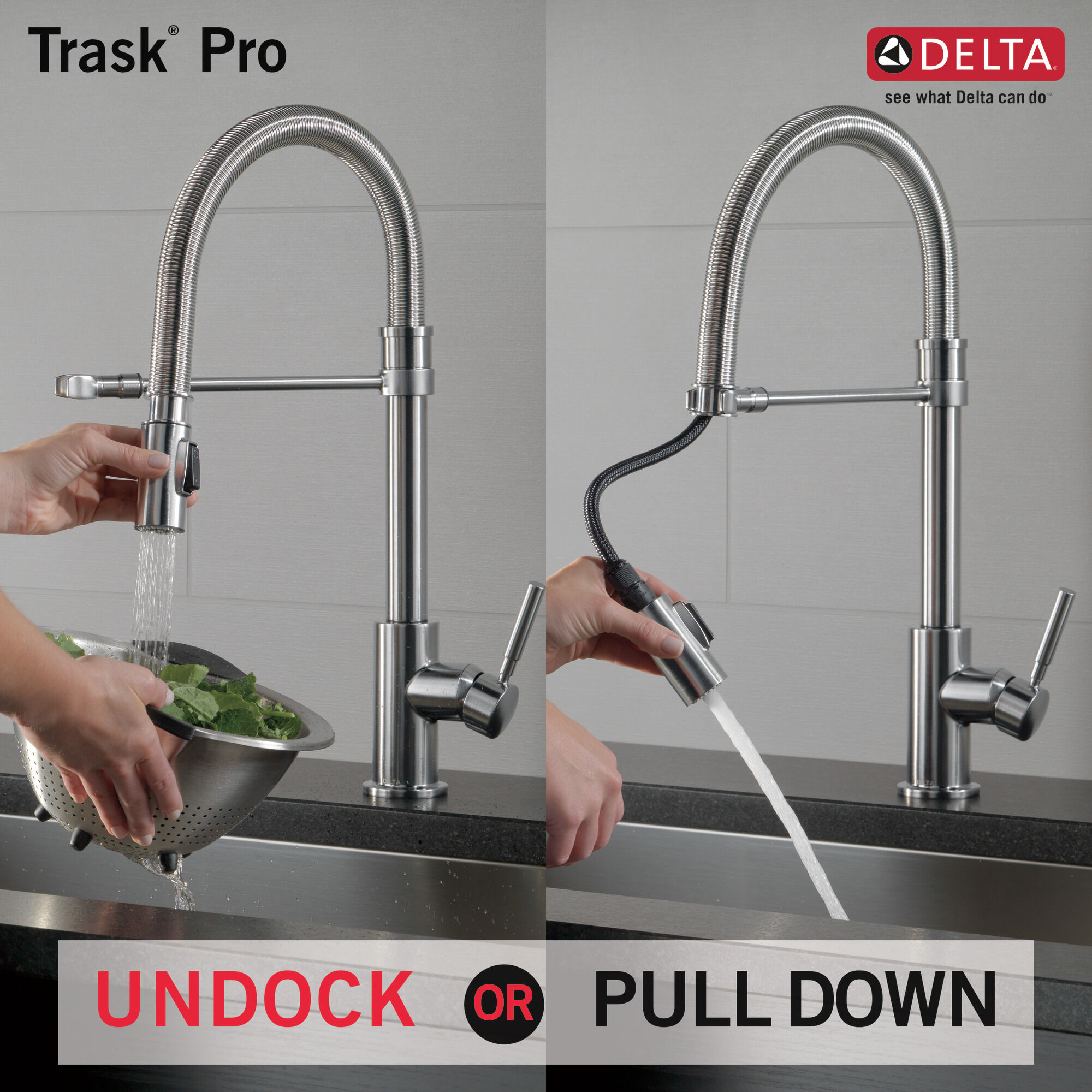 commercial single handle pull down kitchen faucet