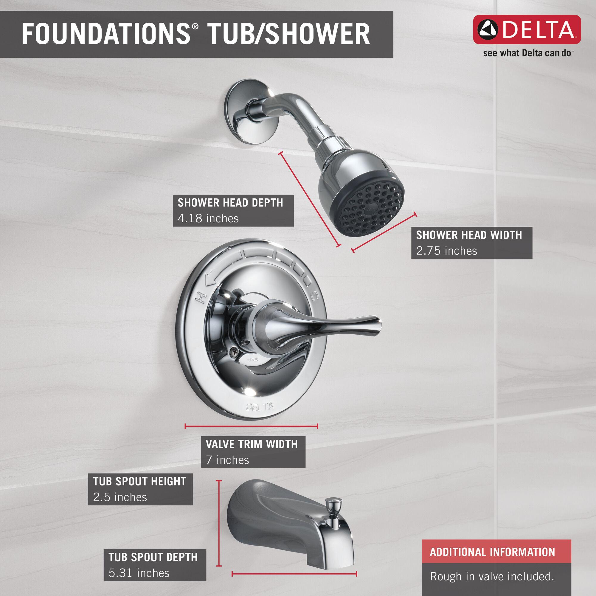 single handle shower trim
