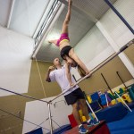 Kids learning handstands - fundamental gymnastic skill