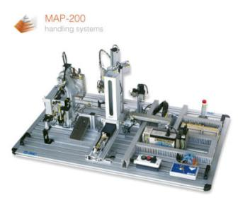MAP MAP is a series of products for simple PLC control and fault finding  The  MAP205 is an assembly process controlled by one PLC  The MAP201  202  203