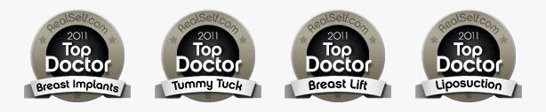 Top Plastic Surgeon Award Seals Image - DeLuca Plastic Surgery