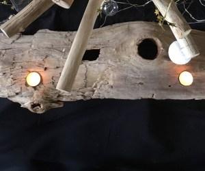 Grand bougeoir en bois flotté. Pièce unique en bois flotté by Deluxe Créations