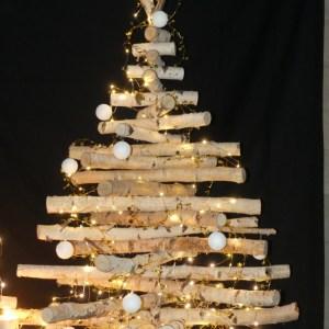 Bouleau. Sapin en bouleau. Sapin de Noël en bois de bouleau, création artisanale by Deluxe Créations