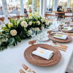 Brown Rattan Charger Plates Celebrations Event Decor Rental