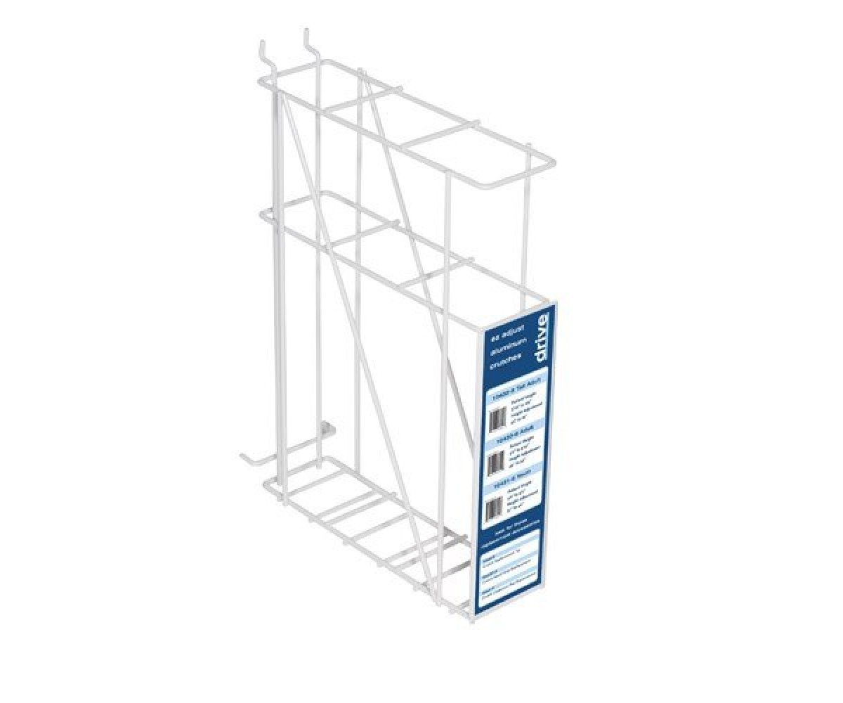 Crutch Rack For Plan O Gram White