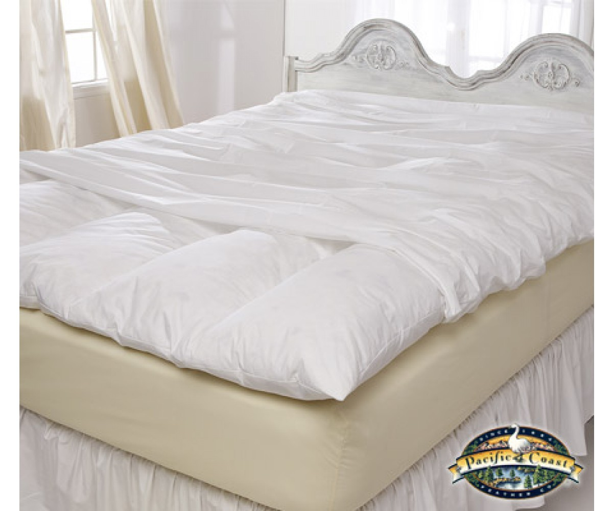 Feather Bed Cover With Zip Closure