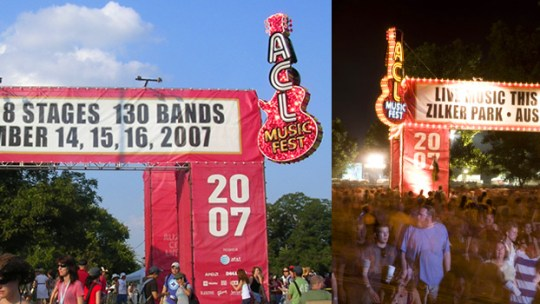 Austin City Limits ACL music festival fest event main gate